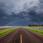 Road To Nowhere - Rainbow Poster