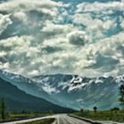 Road Travel Alaska Color  Poster