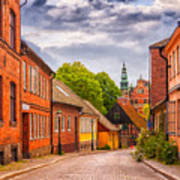 Roads Of Lund Digital Painting Poster