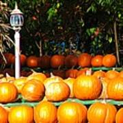 Roadside Pumpkin Stand Expressionist Effect Poster