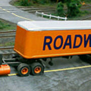 Roadway Truck Poster