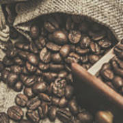 Roasted Coffee Beans In Close-up  Poster