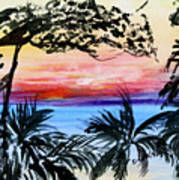 Roatan Sunset Poster