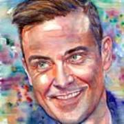 Robbie Williams Portrait Poster