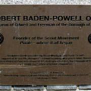 Robert Baden-powell Plaque Poster