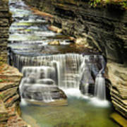 Robert H. Treman State Park Gorge Upper Falls Poster
