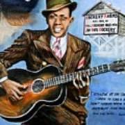 Robert Johnson Mississippi Delta Blues Poster