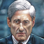 Robert Mueller Portrait , Head Of The Special Counsel Investigation Poster
