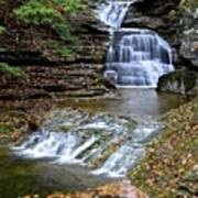 Robert Treman Waterfall Poster