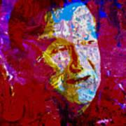 Robin Williams Paint Splatter Poster