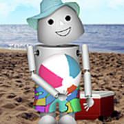 Robo-x9 At The Beach Poster