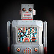 Robot R-1 Square Poster