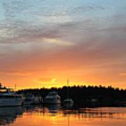 Roche Harbor Sunset Poster