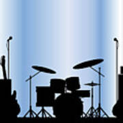Rock Band Equipment Poster