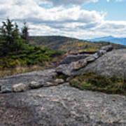 Rock Boundaries On Casecade Mountain Keene Ny New York Poster