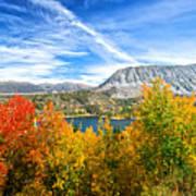Rock Creek Lake Fall Panorama Poster