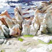 Rock Formation Bettys Bay Poster by Jan Hattingh