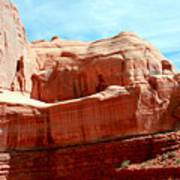 Rock Formation Of Red Sandstone Arches National Park Poster