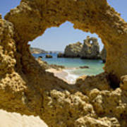 Rock Formations, Albufeira Poster