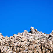 Rock Formations And Blue Sky Poster