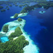 Rock Islands Aerial Poster
