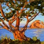 Rock Reflection - Morro Bay Poster