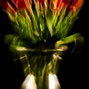 Rocket Propelled Tulips Poster