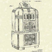 Rockola Phonograph Cabinet 1940 Patent Art Poster by Prior Art Design