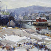 Rockport Harbor In Winter Poster