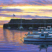 Rockport Ma Sunset Poster