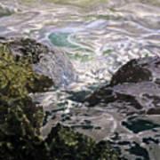Rocks And Sea Foam Poster