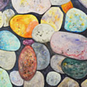 Rocks Painting By Kellie Chasse