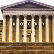 Rocky Balboa On The Art Museum Steps Poster