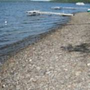 Rocky Beach On A Lake Poster