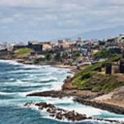 Rocky Coast Of Puerto Rico Poster