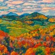 Rocky Knob In Fall Poster