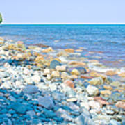 Rocky Lake Superior Shoreline Near North Country Trail In Pictured Rocks National Lakeshore-michigan Poster