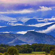 Rocky Mountain Cloud Layers Poster