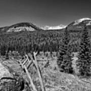 Rocky Mountain National Park Black And White Poster