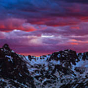 Rocky Mountain Sunset Poster