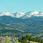 Rocky Mountains Panorama Poster