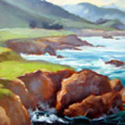 Rocky Point Afternoon Big Sur Poster