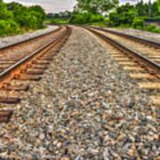 Rocky Railroad Rails Poster