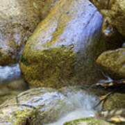 Rocky Water Closeup 2 Poster