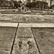 Rocky's Footprints Poster by Jack Paolini