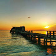 Rod And Reel Pier Sunrise 2 Poster