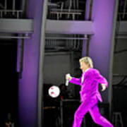 Rod Stewart Soccer Ball Poster by April Reppucci