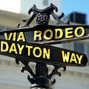 Rodeo Drive In Beverly Hills Poster