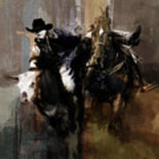 Rodeo Painting Poster