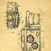 Rolleiflex Medium Format Twin Lens Reflex Tlr Patent Poster by Edward Fielding